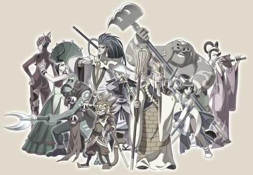 Les personnages jouables du jeu Oriental Legend 2